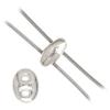 Twin 2-hole Bead 2.5x5mm Crystal/labrador